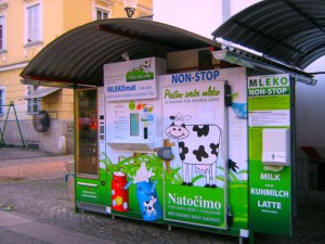 Slovenia - Milk-O-Matic Raw Milk Dispenser Photo Credit Lidija Slana of Ljubljana edited